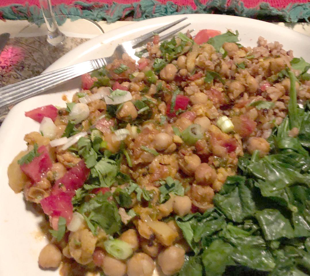 Green Curried Garbanzo Beans