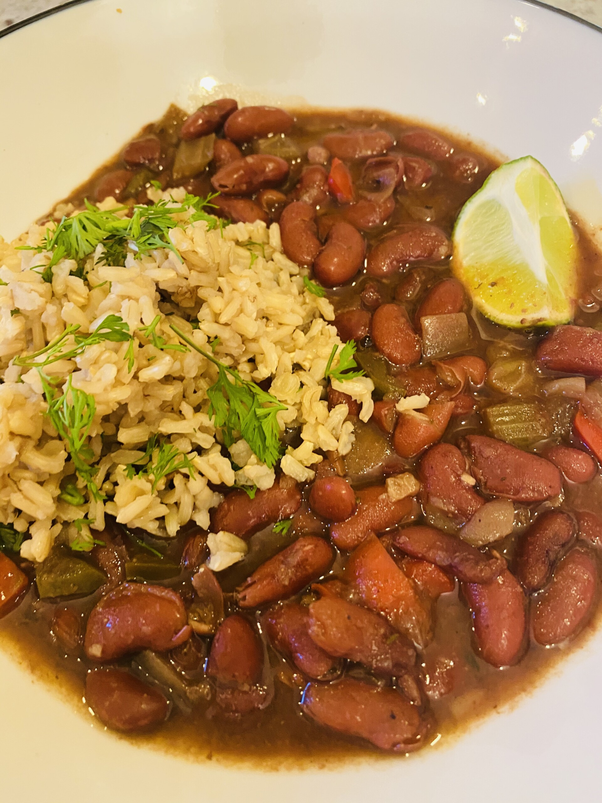 Vegan Cajun Red Beans & Rice for Instant Pot or stovetop*