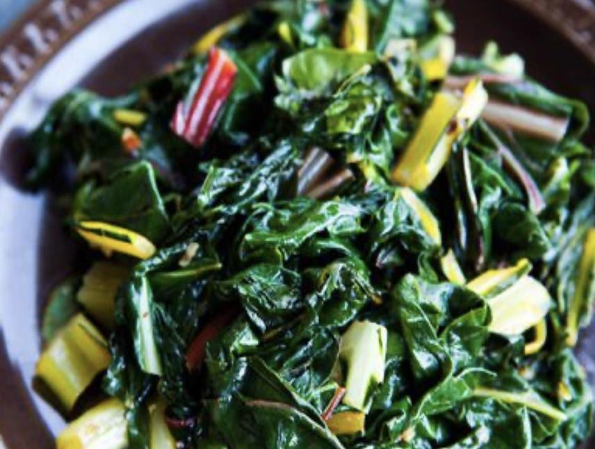Spicy 'Stir-Fried' Swiss Chard or Favorite Greens