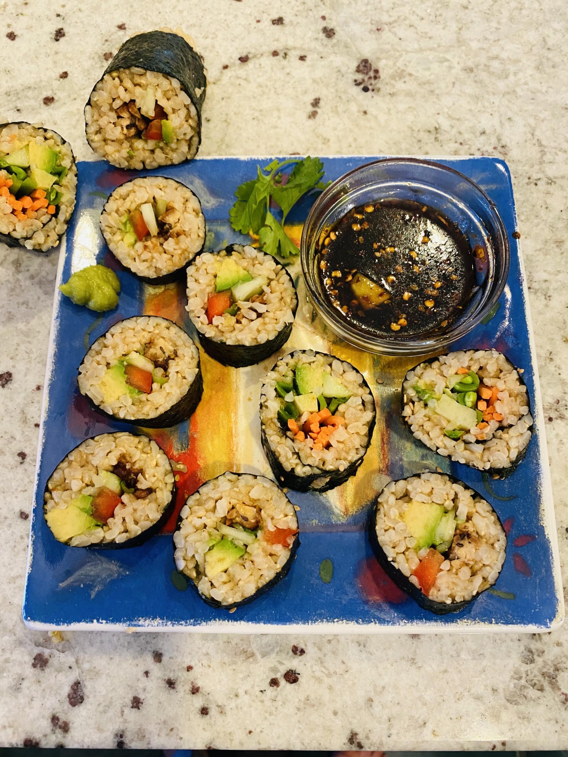 Vegan Sushi Primer—Hand and 'Bazooka' Rolled