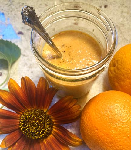 Orange-Miso-Ginger Dressing-Vegan and Oil Free