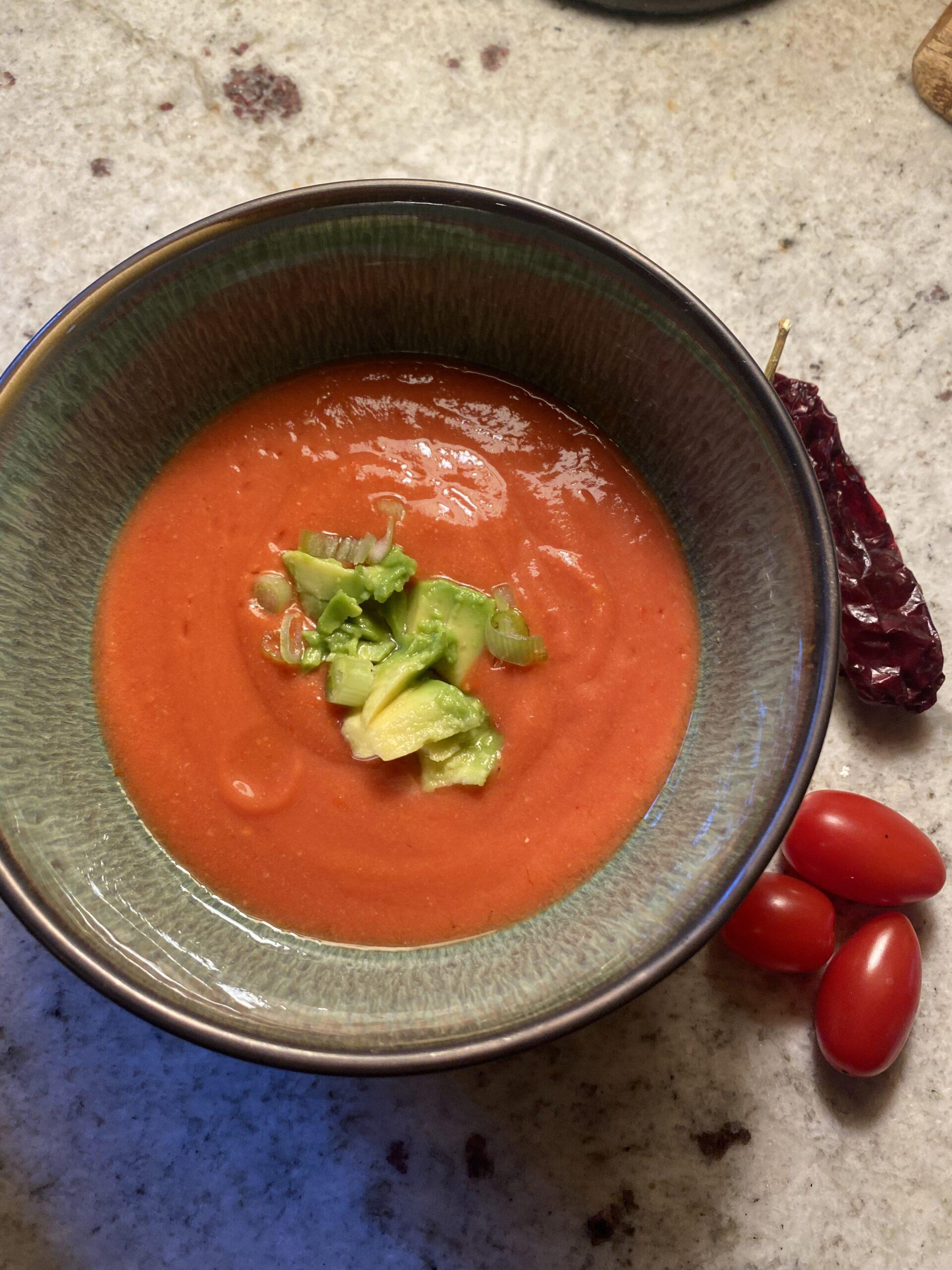 Salmorejo Soup-Vegan and Oil Free