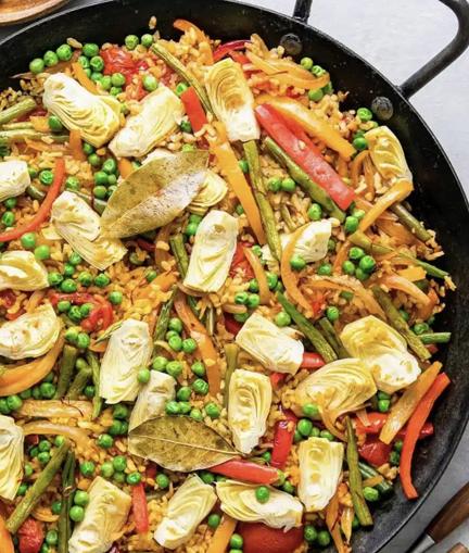 Vegan Spanish Paella–Oil & Gluten Free